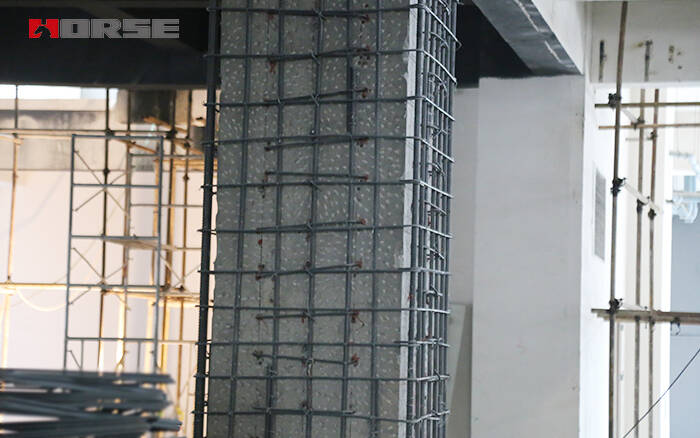 Column Beam And Slab Retrofitting With Steel Rebar Cfrp