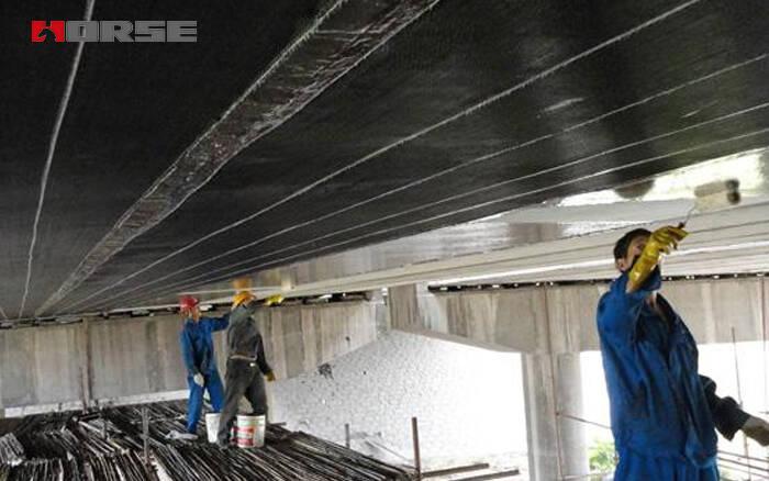 Affixing Carbon Fiber Reinforced Polymer Sheet In Bridge