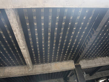 beam strengthening with unidirectional carbon fiber fabric