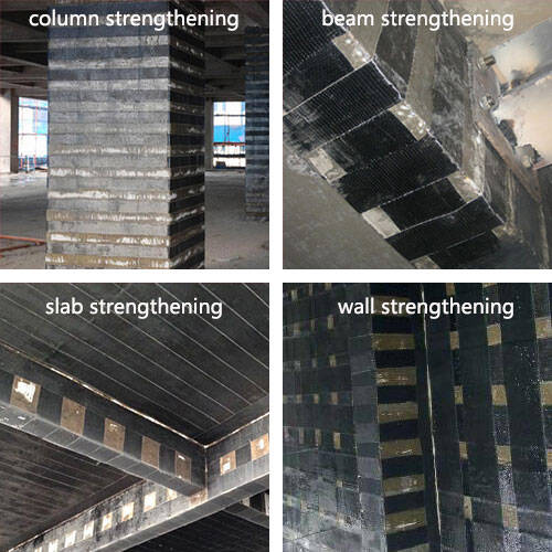 About 30000000m2 HM Carbon Fiber Reinforced Polymer(CFRP) Wrap Used In  Existing Structural Elements