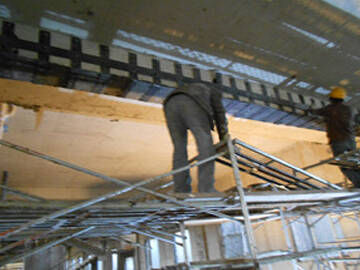 Structural strengthening of old apartment by steel plate and CFRP
