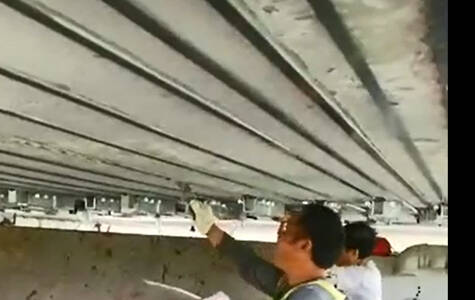 Carbon fiber laminate for bridge strengthening