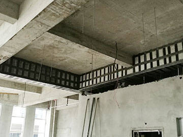Carbon fiber reinforcement in building modification