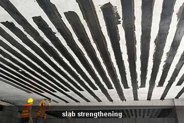 unidirectional carbon fiber sheet concrete repair