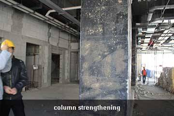 column using carbon fiber sheet