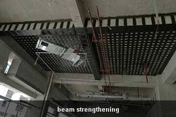 beam retrofit by ud carbon fiber sheet