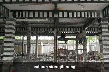 column repair by cfrp sheet