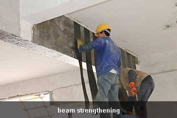 carbon sheet concrete strengthening