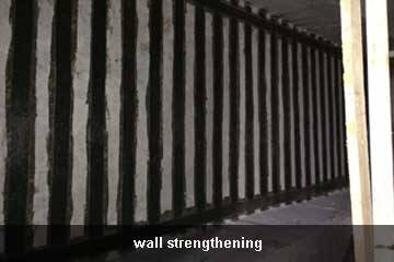 wall repair by carbon fiber sheet