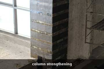 strengthening with carbon fiber sheet