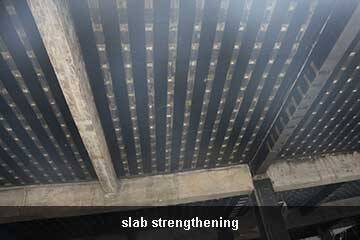 slab strengthening by ud carbon fiber sheet