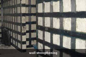 unidirectional carbon fiber sheet for wall repair